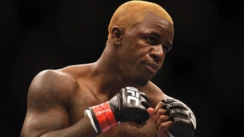 Melvin Guillard battles in a lightweight UFC mixed martial arts fight on Friday, Jan. 20, 2012, in Nashville, Tenn. (AP Photo/Mark Humphrey)
