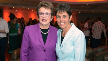FILE - In this Wednesday June 26 2013 file photo, former professional tennis champion Billie Jean King and Ilana Kloss at the premier of Battle of the Sexes in London.  Billie Jean King and partner Ilana Kloss have joined the Los Angeles Dodgers ownership group. The Dodgers made the announcement Thursday, Sept. 20, 2018. The tennis great says Dodgers owner and chairman Mark Walter and the organization have proven to be leaders in sports on and off the field. (Photo by Jon Furniss/Invision/AP, File)