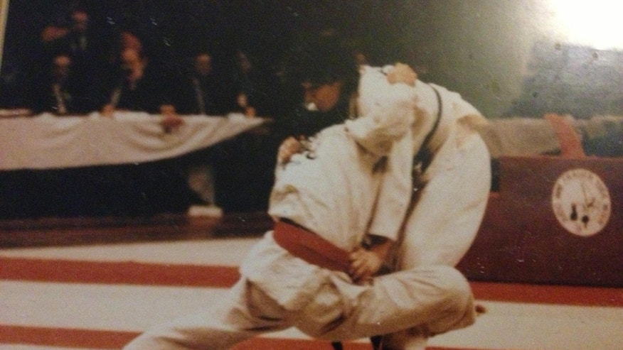 De Mars competing at the 1984 world judo championships.