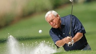 Former champion Arnold Palmer of the U.S hits from a sand trap during the annual Masters Par 3 golf tournament at the Augusta National Golf Club in Augusta, Georgia, April 9, 2008. Palmer will be the ceremonial starter when play begins Thursday.     REUTERS/Hans Deryk (UNITED STATES) - RTR1ZAT5