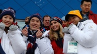 Snowboarding - Pyeongchang 2018 Winter Olympics - Men's Big Air Finals - Alpensia Ski Jumping Centre - Pyeongchang, South Korea - February 24, 2018 - South Korean athletes pose for a photograph with U.S. President Donald Trump's daughter and senior White House adviser, Ivanka Trump. REUTERS/Eric Gaillard - DEVEE2O086KA6