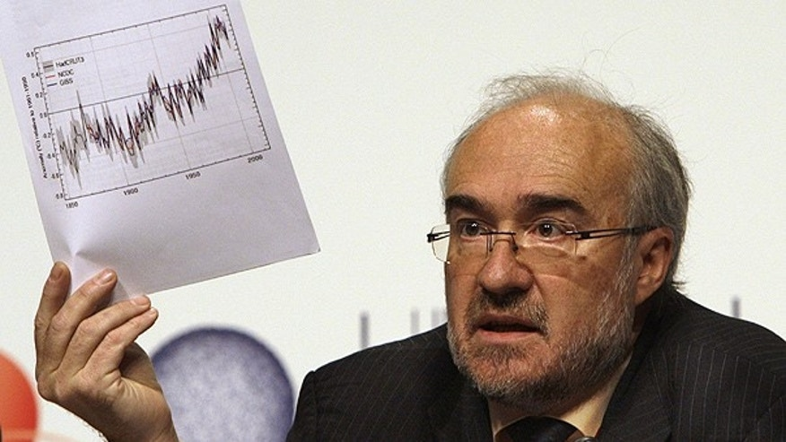 Dec. 8: Michel Jarraud, Secretary-General of the World Meteorological Organization holds up a temperature chart during a press conference at the U.N. Climate Conference in Copenhagen. (AP)