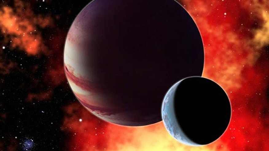 This artist's conception shows a hypothetical gas giant planet with an Earth-like moon similar to Pandora in the movie Avatar. New research shows that the James Webb Space Telescope will be able to study the atmosphere of such planets and detect key gases like carbon dioxide, oxygen, and water.
