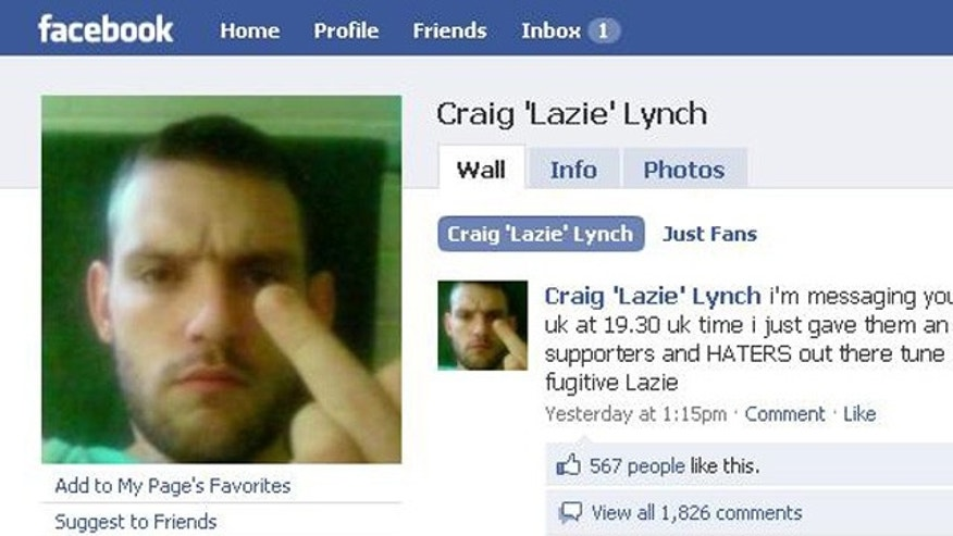 Escaped convict Craig 'Lazie' Lynch continues to update his Facebook page, taunting police along the way.