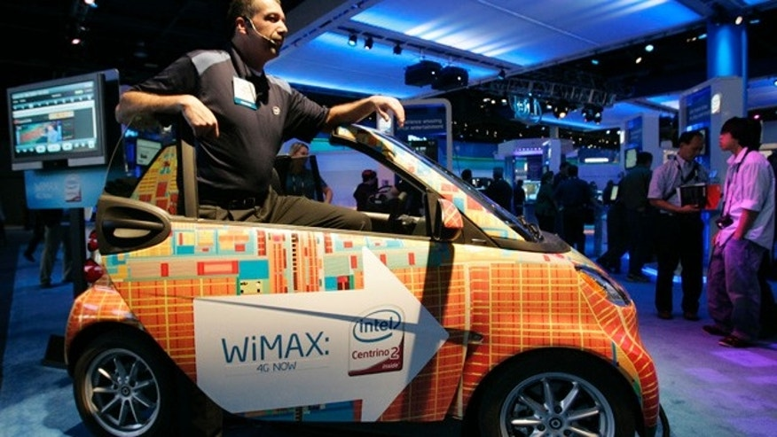 An Intel WiMax Smart Car in the Intel Booth at the 2009 International Consumer Electronics Show (CES) in Las Vegas.
