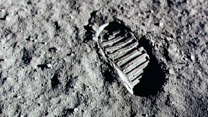 An astronaut's footprint in the lunar soil photographed during the Apollo 11 extravehicular acitivty on the moon in 1969. Which country will leave the next set of prints?