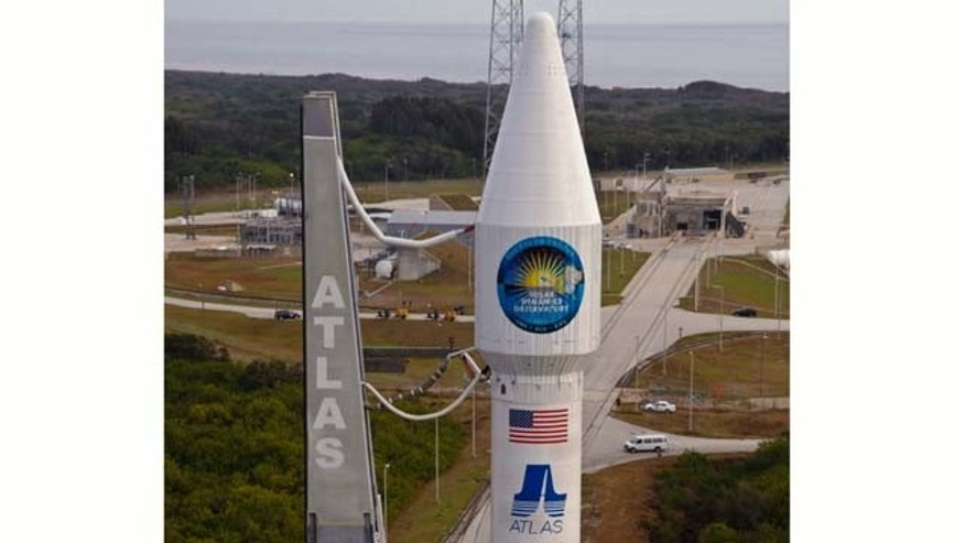 At Launch Complex 41 on Cape Canaveral Air Force Station, preparations are under way to begin the countdown to launch of the United Launch Alliance Atlas V rocket which will deploy NASA's Solar Dynamics Observatory.