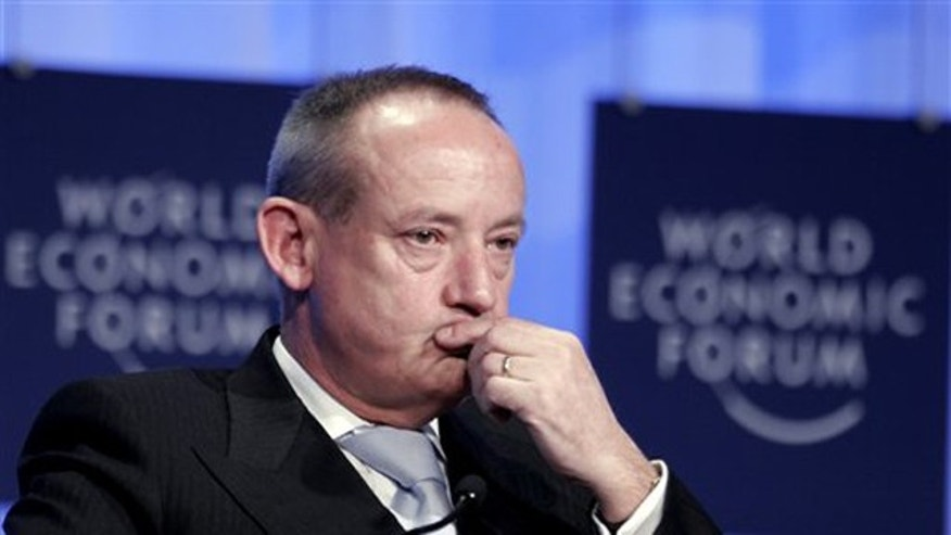 Yvo De Boer, Executive Secretary of the United Nations Framework Convention on Climate Change listens to comments during a session on climate change at the World Economic Forum in Davos, Switzerland.