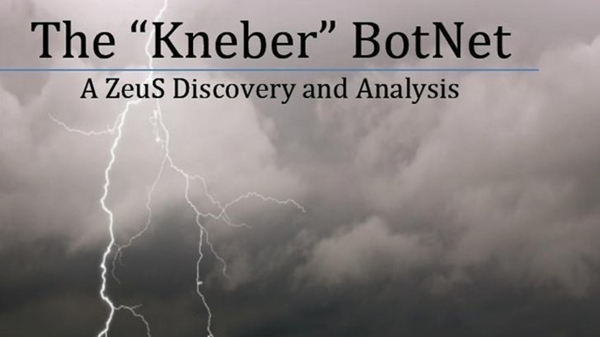 """The cover of NetWitness's report on the """"Kneber"""" BotNet."""