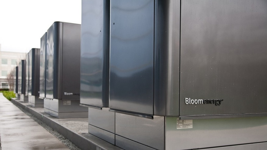 Bloom Energy Fuel Servers are shown installed at eBay's headquarters.