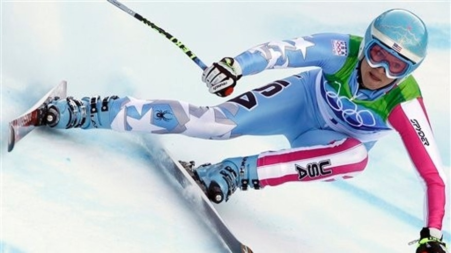 Feb. 22: Julia Mancuso of the United States  speeds down the course during the Women's super-G, at the Vancouver 2010 Olympics in Whistler, British Columbia.