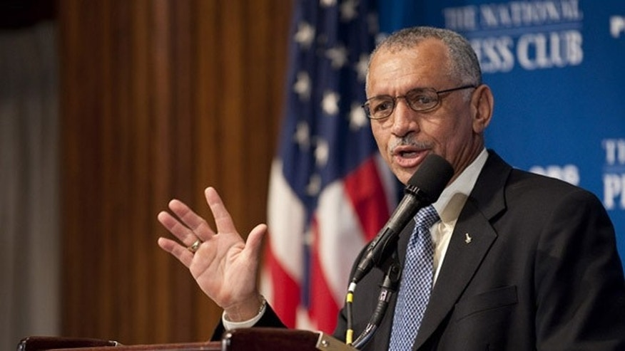 NASA Administrator Charles Bolden speaks during a press conference, Tuesday, Feb. 2, 2010, at the National Press Club in Washington, where the it was announced that NASA has awarded $50 million through funded agreements to further the commercial sector's capability to support transport of crew to and from low Earth orbit.