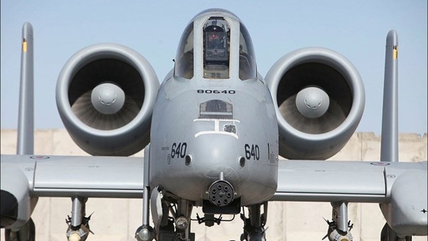 An A-10 Warthog is ready to roll on the Kandahar airstrip.