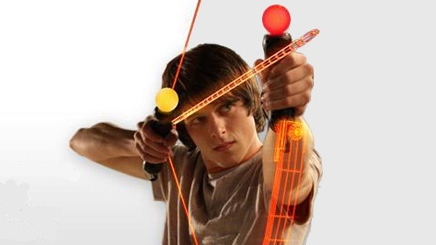 An ad for the Playstation Move highlights the full-body interactivity enabled by the game controller.