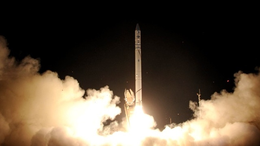 """Ofek 9"" spy satellite is launched at the Palmahim airforce base near Tel Aviv, Israel. Israel launched a spy satellite called ""Ofek 9"" late Tuesday, Israel's Defense Ministry and officials said, increasing Israel's capacity to keep an eye on enemies like Iran."