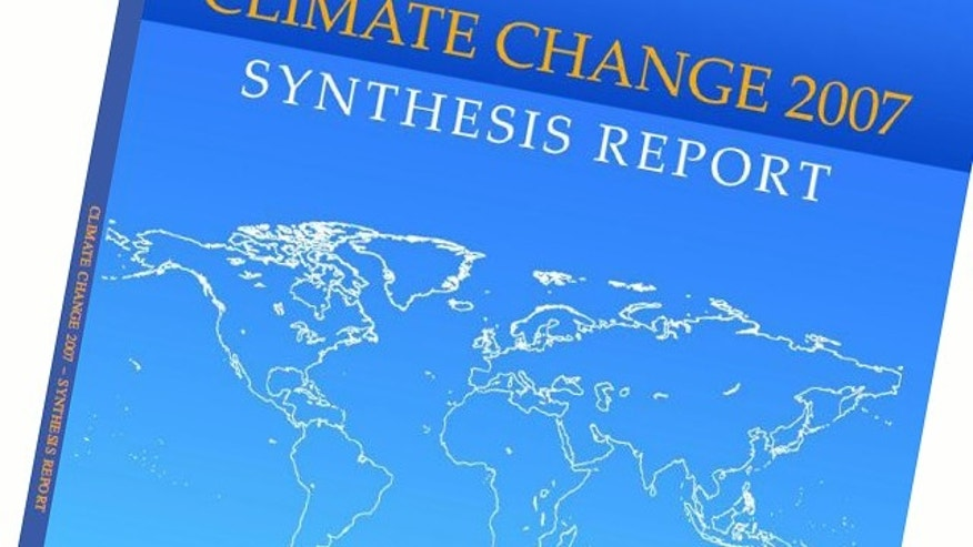 "The cover of the IPCC's fourth assessment report to the U.N., ""Climate Change 2007: Synthesis Report,"" more frequently referred to as AR4."