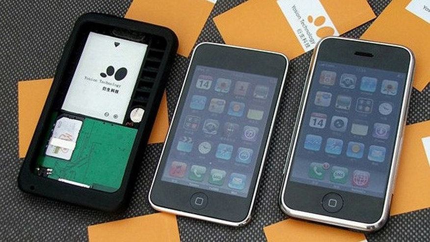 a new gadget converts an iPod Touch, Apple's high-end MP3 player, into a fully functioning iPhone.
