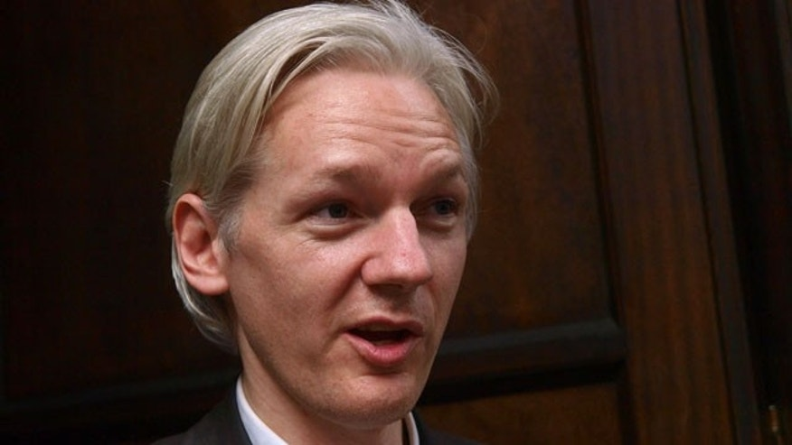July 27: Founder and editor of the WikiLeaks website, Julian Assange, faces the media during a debate event, held in London.