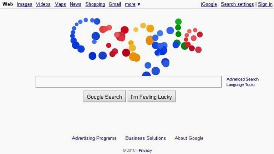 Google's latest doodle is an animated explosion of colored balls -- but its meaning remains a mystery.