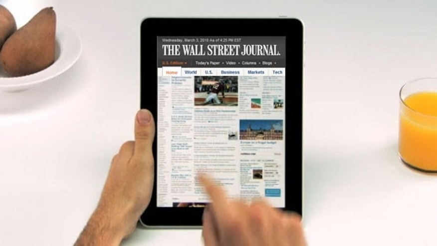 Many newspapers have released their own iPad apps, such as ths one from the Wall Street Journal. According to rumors, Apple aims to supplement those apps with an iTunes-based newspaper subscription service.