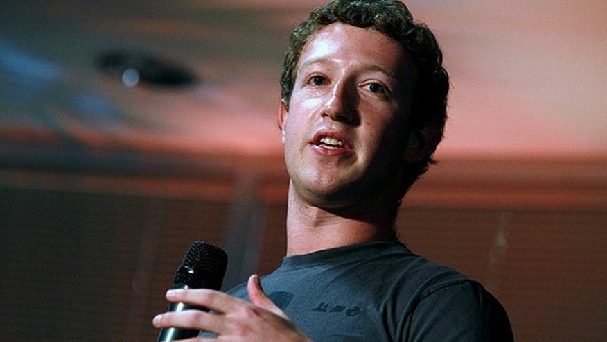Aug. 18: Facebook founder and CEO Mark Zuckerberg speaks during a news conference at Facebook headquarters in Palo Alto, California.