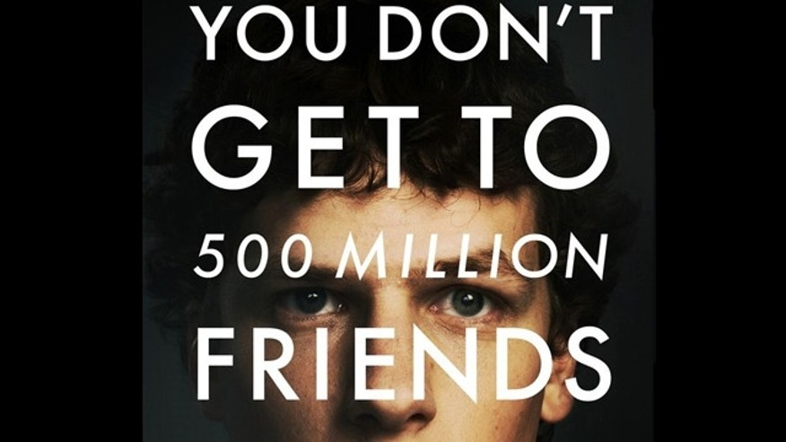 A poster for the film 'The Social Network,' a drama about the founding of social-networking site Facebook.