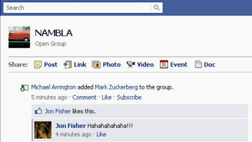 "Well known tech writer Michael Arrington (from blog TechCrunch) and Facebook CEO Mark Zuckerberg were unwittingly added to a ""NAMBLA"" group on Facebook, thanks to a new Groups feature."