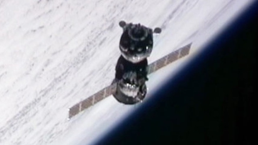 Oct. 9: The new Soyuz TMA-01M is seen closing in on the International Space Station with three new crewmembers for the Expedition 25 crew in this view from a camera on the station's exterior. (Space.com)