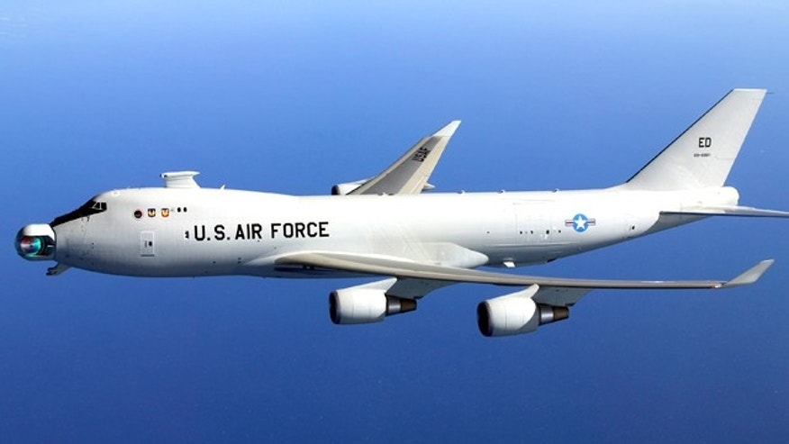 Boeing's Yal 1A AIrborne Laser Aircraft works its way through initial tests at the company's Western Test Range.