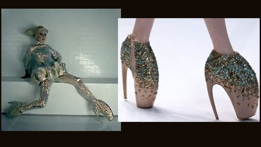 In one of her music videos, Lady Gaga dances in 10-inch stiletto heels by designer Alexander McQueen. What keeps her from falling over? Physics.
