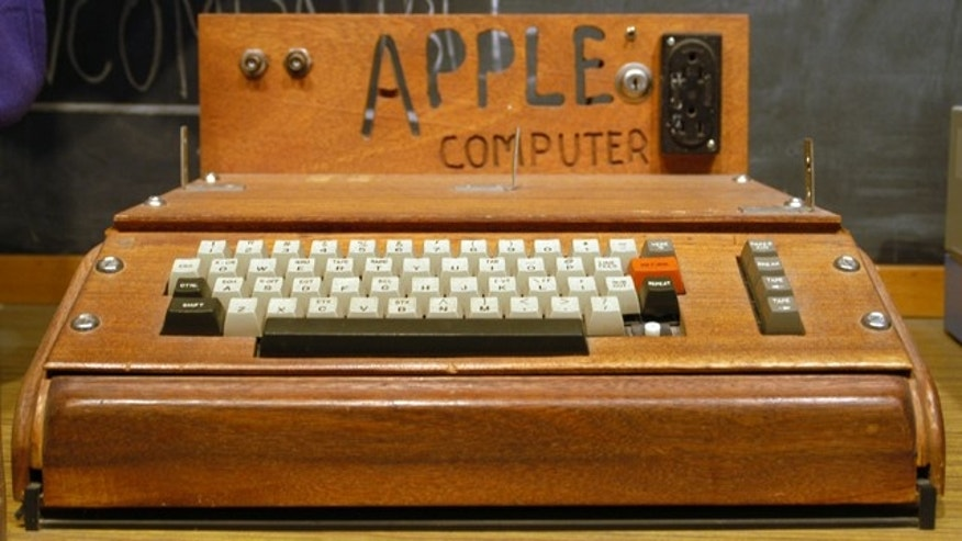 The original Apple I computer, on display at the Smithsonian Museum in Washington, D.C.