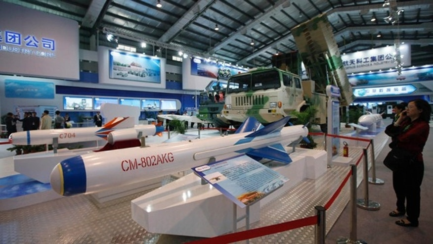 Nov. 16, 2010: Military technology, like these Chinese-made CM-802 AKG missiles, was on display at the 8th China International Aviation and Aerospace Exhibition in Zhuhai, southern coast of Guangdong province, China. But its the rise of unmanned aircraft at the show that has caught the eye of experts.