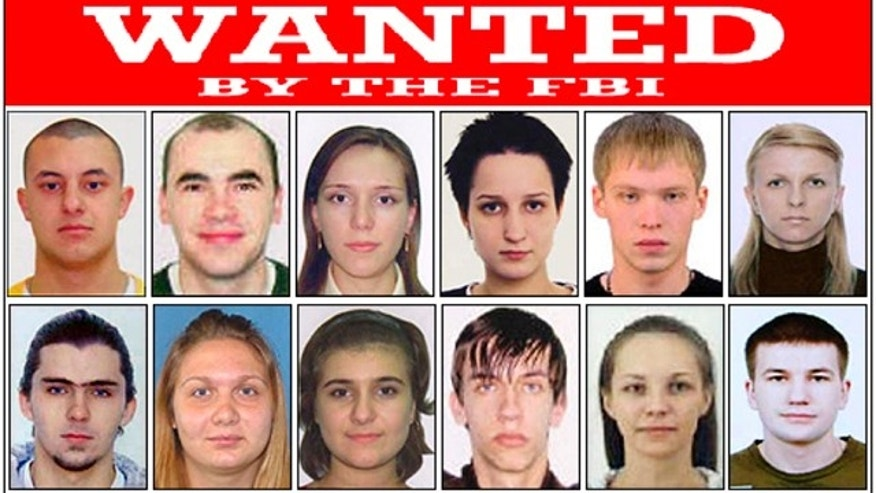 "This poster released by the FBI shows photos of individuals wanted by the FBI and shows Eastern European Cyber Criminals, wanted on a variety of federal charges stemming from criminal activities including money laundering, bank fraud, passport fraud, and identity theft in New York. Complaints were issued by the United States District Court, Southern District of New York, in September of 2010. The court records of Operation Trident Breach reveal a surprise: For all the high-tech tools and tactics employed in these computer crimes, platoons of low-level human foot soldiers, known as ""money mules,"" are the indispensable cogs in the cybercriminals' money machine."
