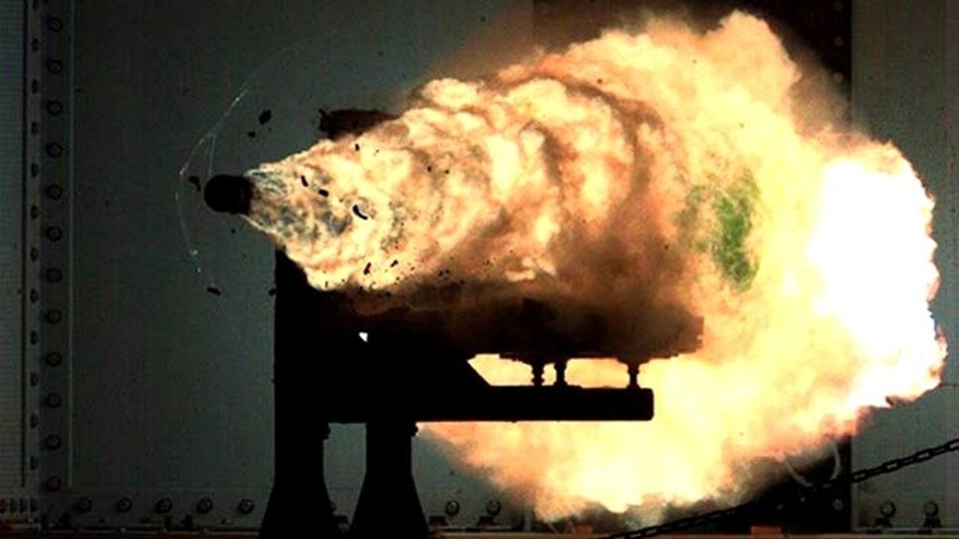 U.S. Navy engineers at the Office of Naval Research prepared and test-fired a slug from their rail gun in a 2008 test firing. On Friday, December 9, the ONR will attempt to break its own record.
