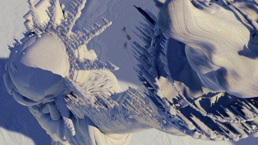 "The Statue of Liberty, depicted frozen solid in the movie ""The Day After Tomorrow."" Many weather forecasters and scientists wonder whether a coming period of ""global cooling"" may be on the way."