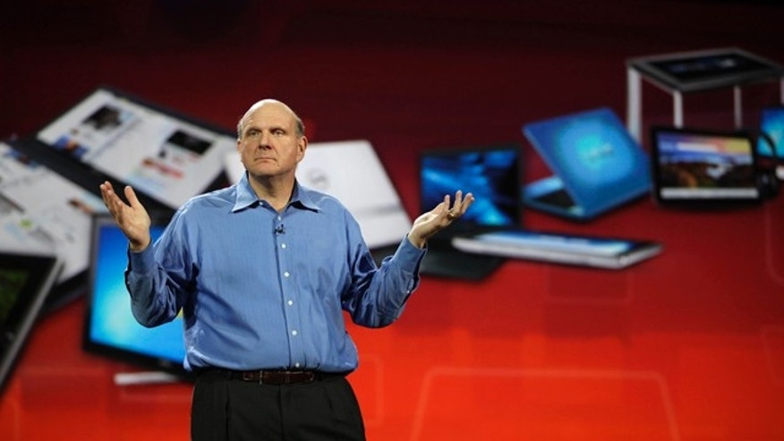 Jan. 5, 2011: Microsoft chief executive officer Steve Ballmer gives his keynote speech at the 2011 Consumer Electronics Show in Las Vegas.