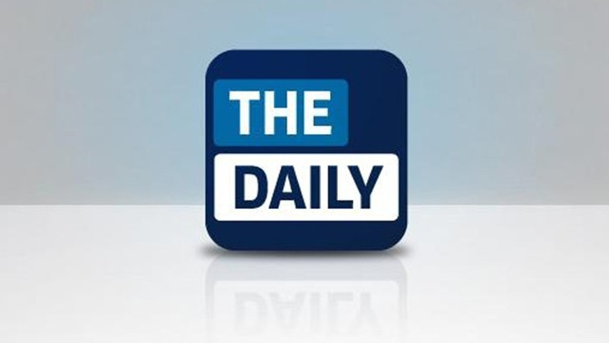 The newly launched website for iPad-only news service The Daily.