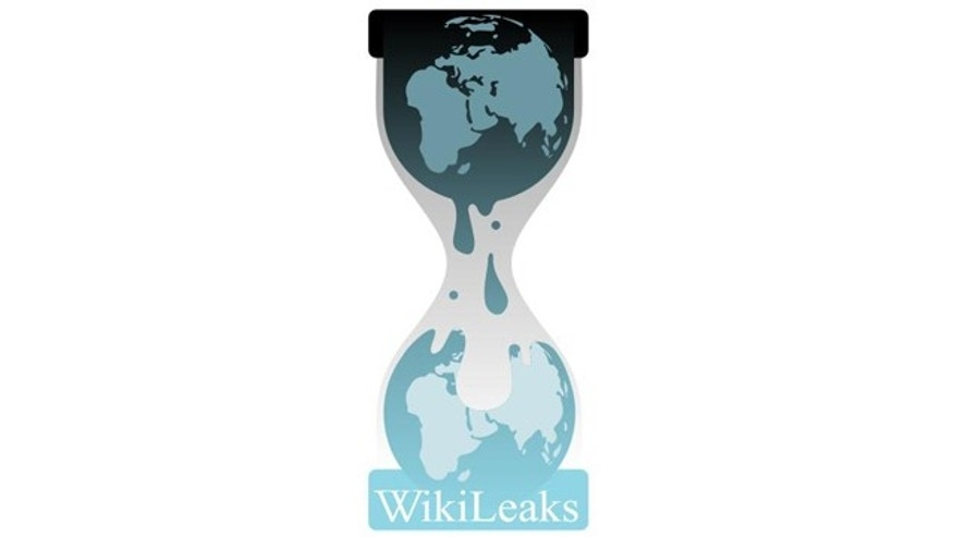 The logo for whistle-blower website WikiLeaks.