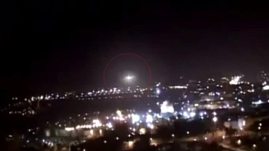 A mystery UFO was filmed hovering over Jerusalem from four different angles.