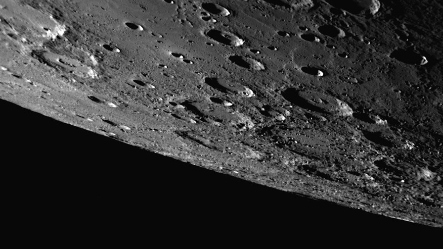 September 2009: This image provided by NASA, shows a image NASAs Messenger probe made when it flew by Mercury during its mission.