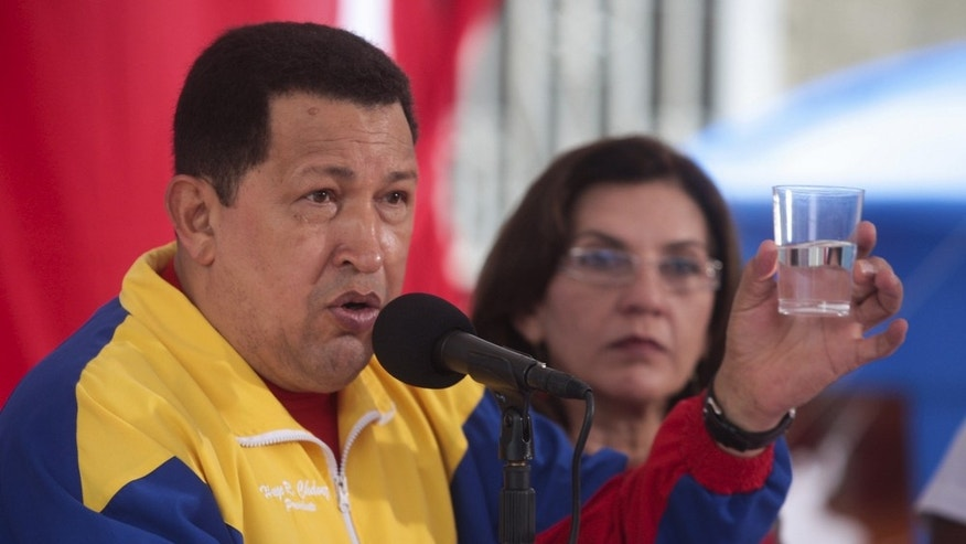 March 22, 2011: Hugo Chavez attends an event to mark to World Water Day in Caracas, Venezuela.