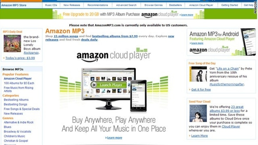 Amazon recently unveiled a new 'cloud' streaming and storage service, powered by the company's EC2 web hosting service.