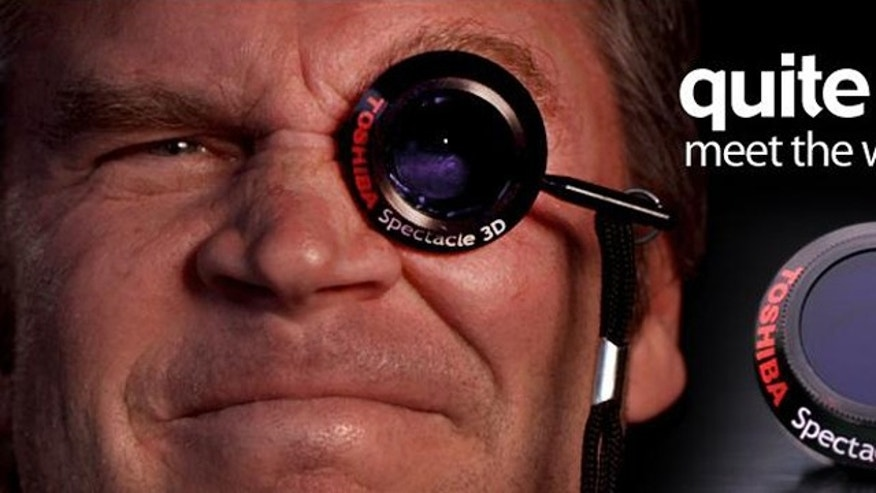 "To celebrate April Fool's Day 2011, Toshiba has unveiled the Spectacle: ""The world's first and only 3D monocle."""