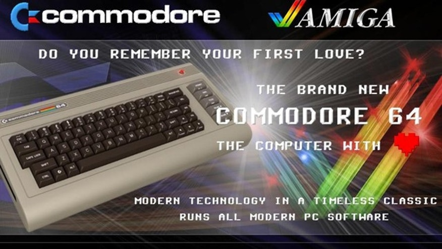A screenshot of the Commodore website shows the updated Commodore 64 -- which looks remarkably like the famous original.
