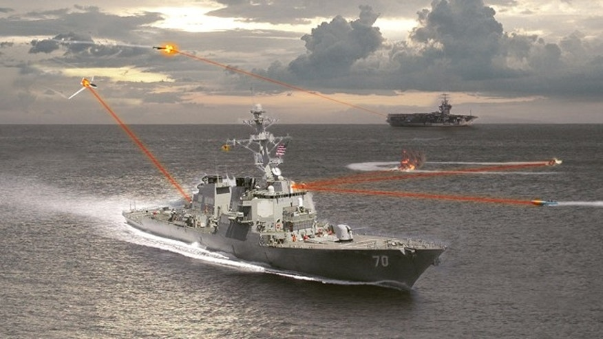 The Maritime Laser Demonstration program will create a laser gun capable of targeting moving boats, unmanned aircraft, and even incoming missiles.
