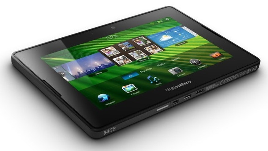 Research in Motion's new BlackBerry PlayBook, the company's entry into the burgeoning tablet computer market currently dominated by the Apple iPad.