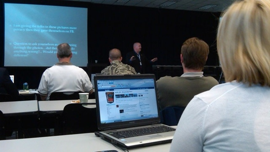 May 10, 2011: Phoenix detective CJ Wren gives his presentation at the Social Media, Internet and Law Enforcement conference in Chicago.