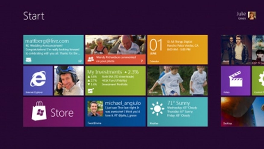 June 1, 2011: At the AllThingsD conference in California, Microsoft executive Steven Sinofsky showed off a revamped, tablet-friendly Start screen for Microsoft Windows 8 that borrows heavily from the company's designs for Windows Phone.