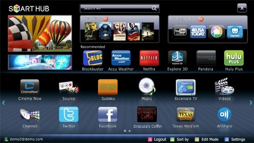 Samsung's newest Blu-ray players come with a Smart Hub feature, that puts a world of entertainment in your television.