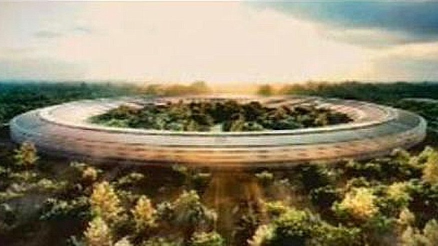 An image courtesy of Cupertino City Hall shows an illustration included in the proposal for the new Apple Campus in the city.